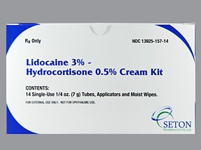 LIDOCAINE-HC 3-0.5% CREAM KIT