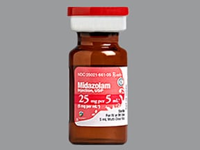 MIDAZOLAM HCL 25 MG/5 ML VIAL