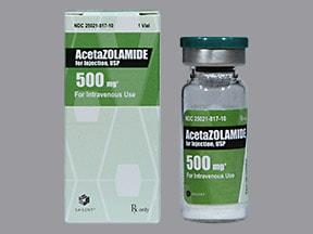 ACETAZOLAMIDE SOD 500 MG VIAL