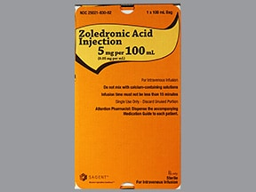 ZOLEDRONIC ACID 5 MG/100 ML