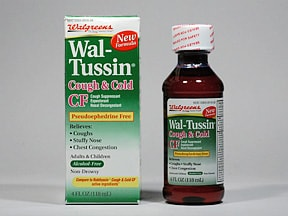 ADLT WAL-TUSSIN COUGH-COLD CF