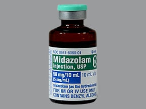 MIDAZOLAM HCL 50 MG/10 ML VIAL