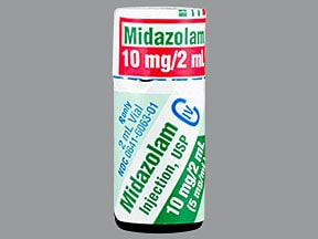 MIDAZOLAM HCL 10 MG/2 ML VIAL