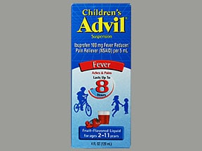 CHILDREN'S ADVIL 100 MG/5 ML