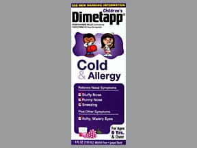 DIMETAPP COLD & ALLERGY ELIXIR