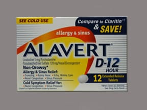 ALAVERT D-12 ALLERGY-SINUS TAB