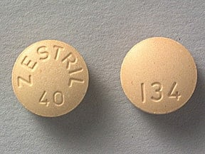 ZESTRIL 40 MG TABLET