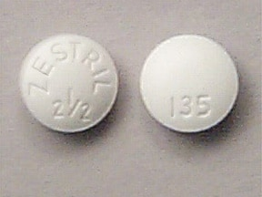 ZESTRIL 2.5 MG TABLET