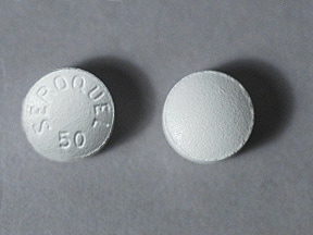 SEROQUEL 50 MG TABLET