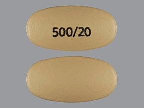VIMOVO DR 500-20 MG TABLET