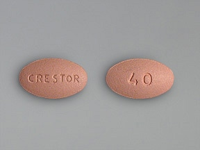 CRESTOR 40 MG TABLET